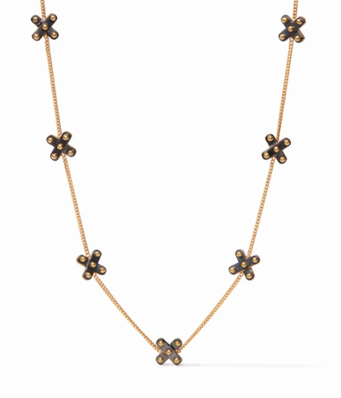 SoHo Delicate Station Necklace-Mixed Metal