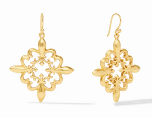 Fleur-de-Lis Lace Earrings