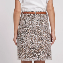 Load image into Gallery viewer, Leopard Frayed Skirt