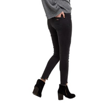 Load image into Gallery viewer, Max Distressed Denim Leggings in Black