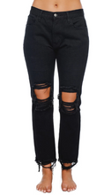 Load image into Gallery viewer, Rosco Distressed Boyfriend Jeans in Black