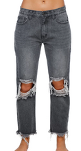 Load image into Gallery viewer, Rosco Distressed Boyfriend Jeans in Grey