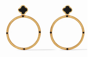 Chloe Statment Earrings-Obsidian Black