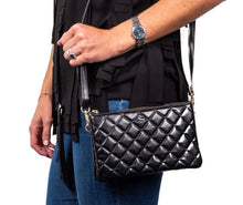 Load image into Gallery viewer, Carson Crossbody-Black Quilted