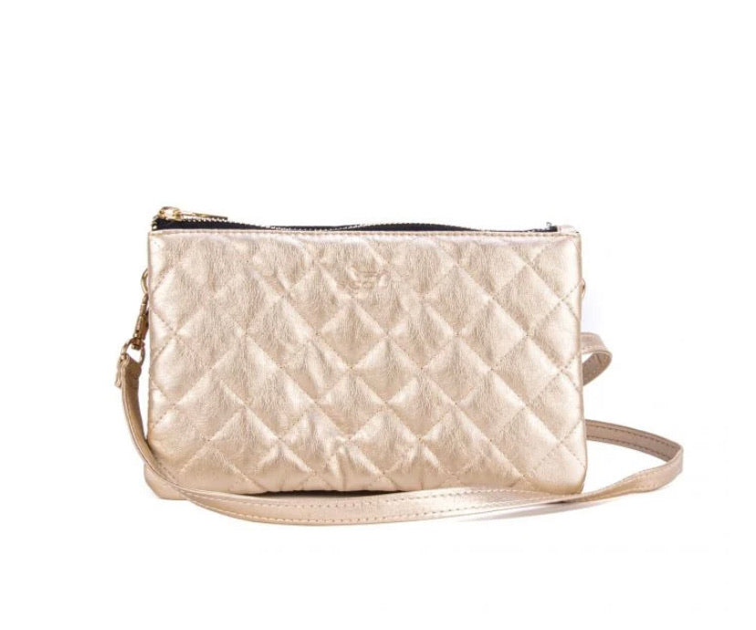 Carson Crossbody-Gold Quilted