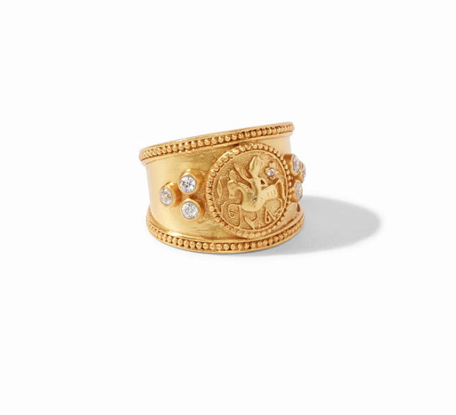 Coin Crescent Ring-Gold