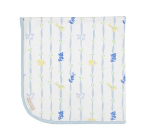 Baby Buggy Blanket-Rockabye Ribbon-Blue