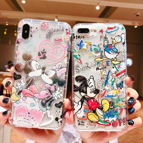 Minnie Mickey Mouse Case For iPhone XS Max XR X 6 6S 7 8 Plus - dirtprice