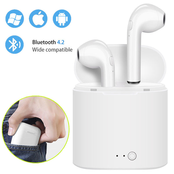 i7s TWS Mini Wireless Bluetooth Earphone With Charging Box Mic For All Smart Phone - dirtprice