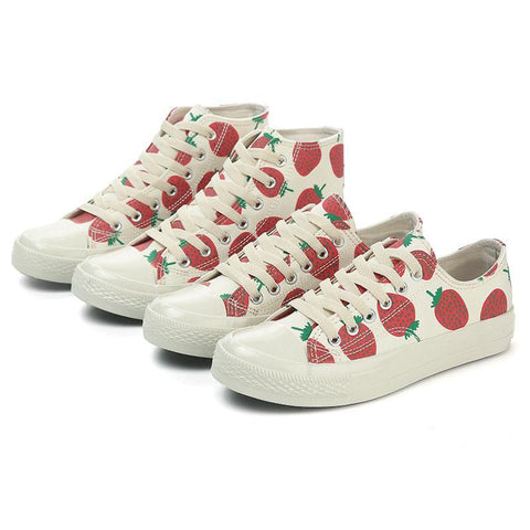 strawberry printed casual canvas - dirtprice