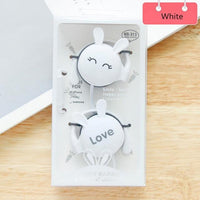 QearFun Cartoon Rabbit Ear Hook Wired Earphone - dirtprice