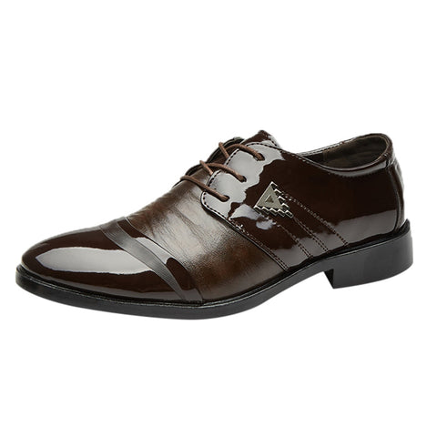 Pointed Toe Leather Shoe - dirtprice