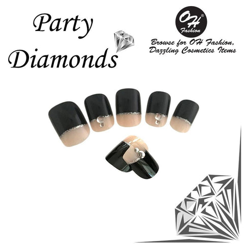OH Fashion Stick On Nails Party Diamonds