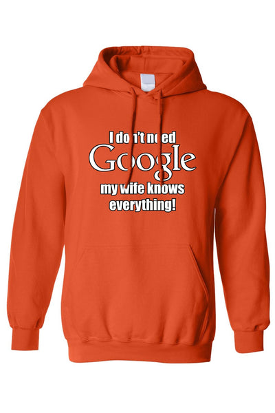 Unisex I Don't Need Google Wife Knows Everything! - dirtprice