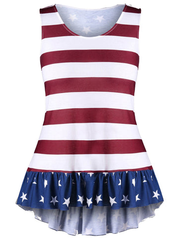 Plus Size Patriotic Sleeveless Top L- 24W