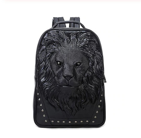 Men's 3D Sculpted Lions Head backpack - Available in 3 Colors