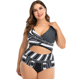 Style 402 Plus Size Open Front One Piece Swimsuit