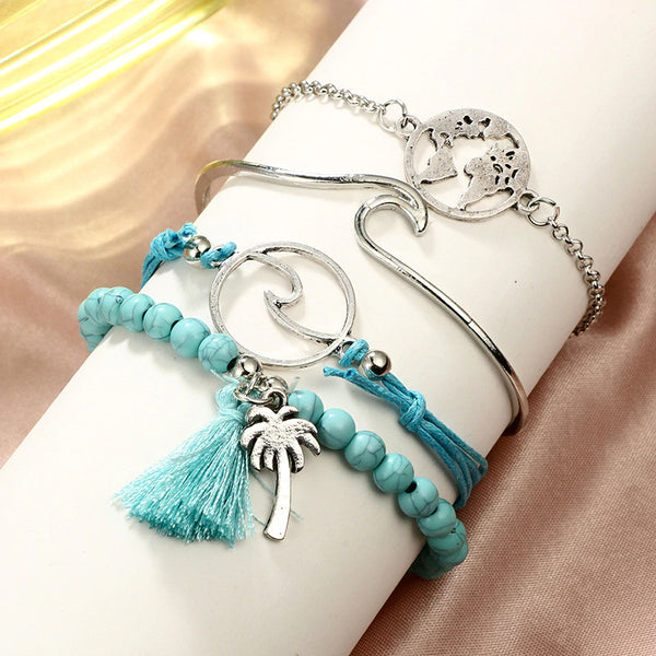 Blue Wave 5-Piece Bracelet Set