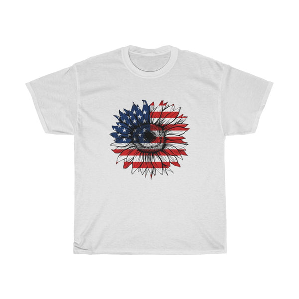 Women's Patriotic Sunflower - Up to 3XL - 14 Colors!