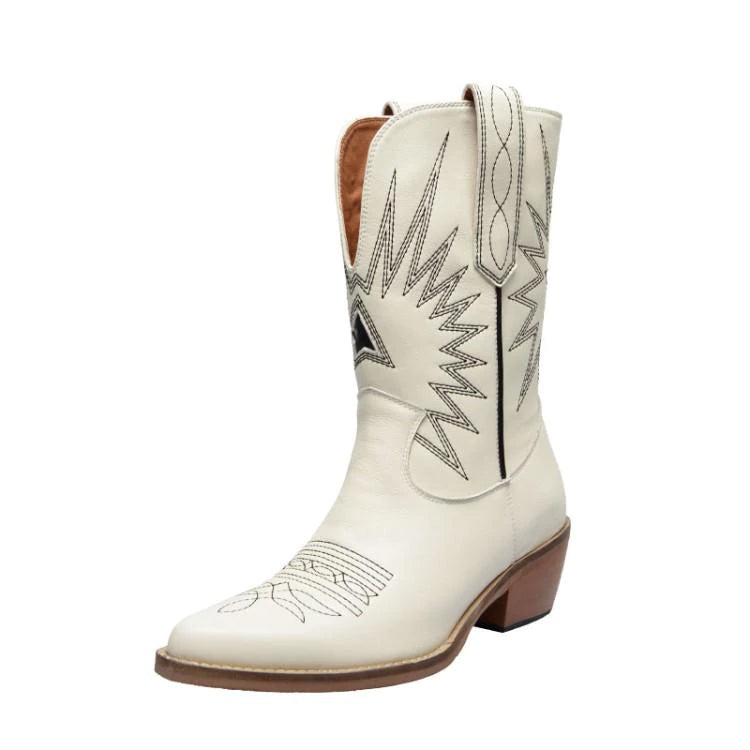Style 800 Traditional Genuine Leather Cowboy Boots :: 2 Colors
