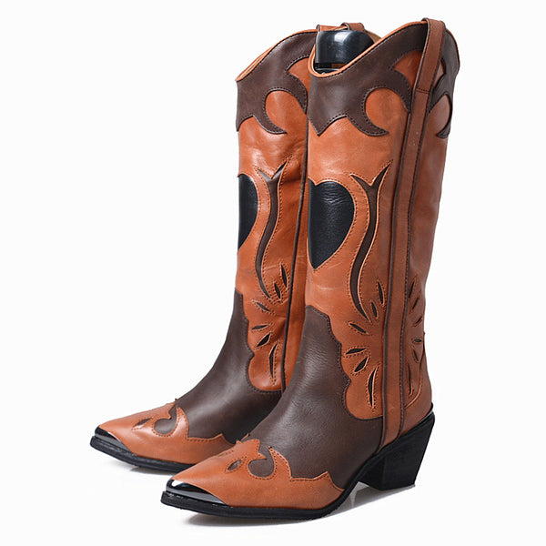 Style 802 High Hearts Western Style Boots :: 2 Colors :: LIMITED QUANTITIES