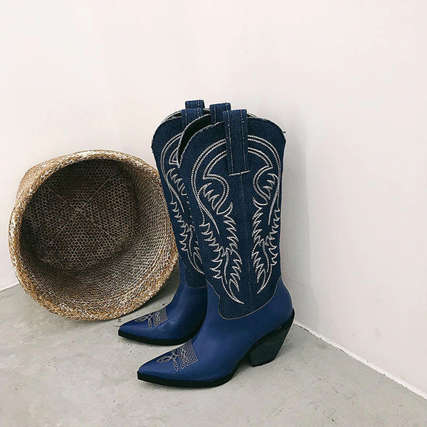Style 805 Traditional Western Style Boots :: Available in 3 Colors