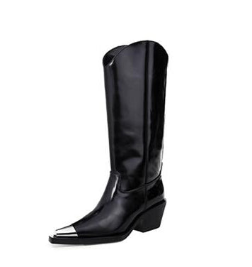 Style 806 Silver Toe Western Style Boots :: Available in 2 Colors