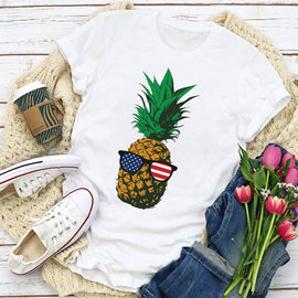 Cool Shades on a Pineapple Women's T-Shirt