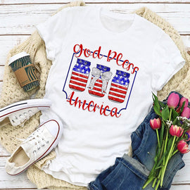 God Bless America Mason Jars   Women's T-Shirt - BEST Seller!