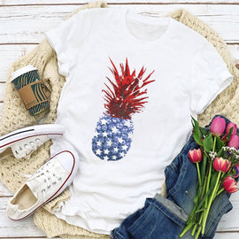 Patriotic Pineapple Women's T-Shirt