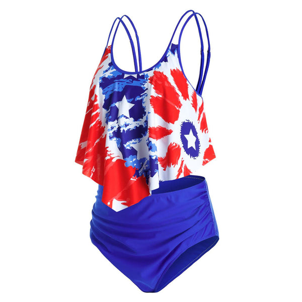 Style AM220 Patriot Splash 2-Piece Tankini Style Swimsuit