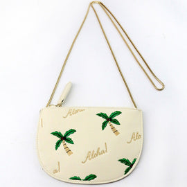 Aloha Embroidered Palm Tree Shoulder bag /Messenger Bag - Available in 2 Colors!