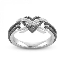 Anchored In Infinite love Two Tone Ring :: Available in 2 Colors
