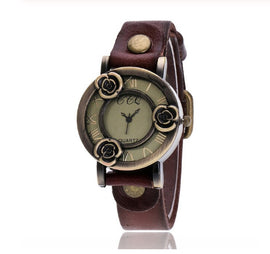 Antique Rose Buds Fashion Quarts Watch  :: Available in 8 Colors