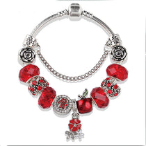 Apple of My Eye :: Handmade European Charm Bracelet ::Available in 5 Colors