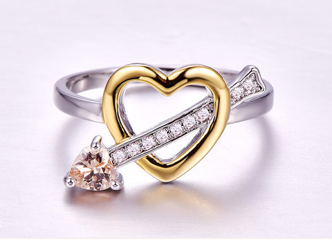 Arrow Through The Heart Sterling Silver Promise Ring