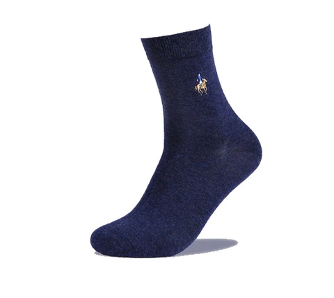 Men's Pier Polo Luxury  Combed Cotton Dress Socks - 5 Pair Set