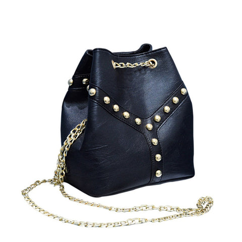 Ball & Chain Bucket Bag - Available in 2 Colors!
