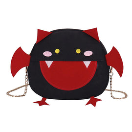 Novelty Collection - Lil' Drac Canvas Bat Shoulder Bag  - Available in 4 Colors! - Seasonal Item