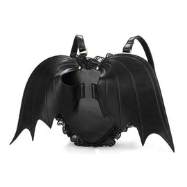 Novelty Collection - Gothic Wings & Lace Leather Backpack- Seasonal Item