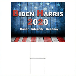 Biden Harris 2020 Country Style Yard Sign
