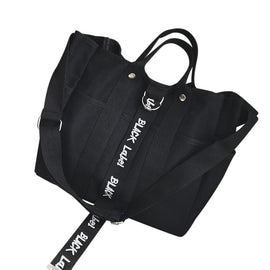 Black Label Canvas Shoulder/Messenger Bag - Available in 2 Colors!