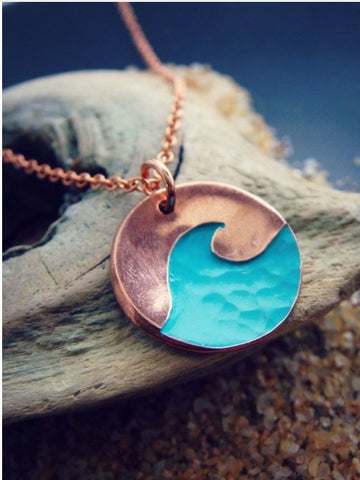 Blue Wave Copper Style Necklace