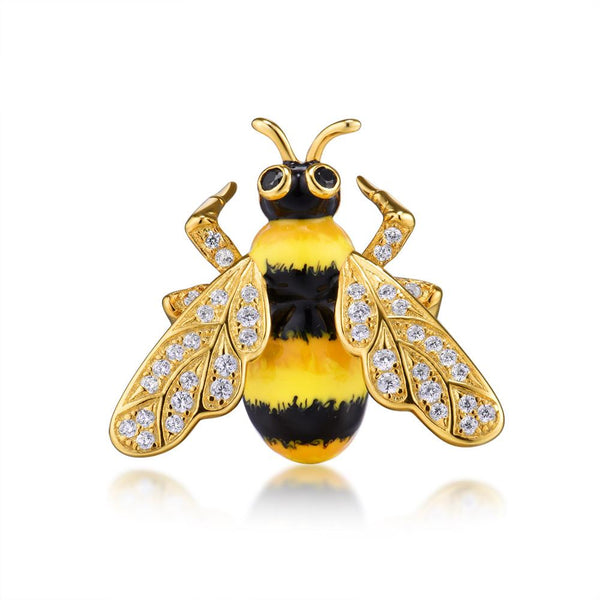 Hand Crafted Bumble Bee Luxury Brooch