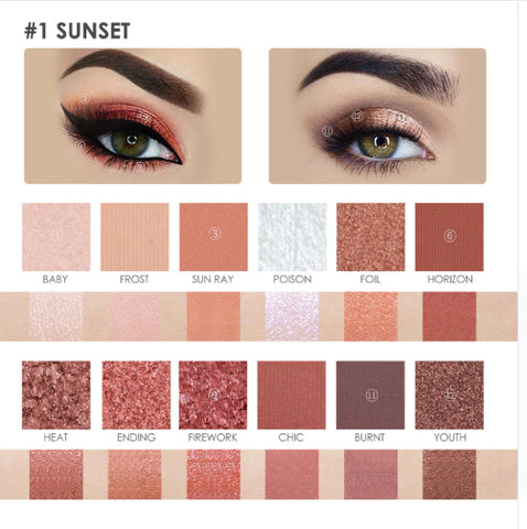 FOCALLURE Burning Sunset 12 Colors in 2 Collections