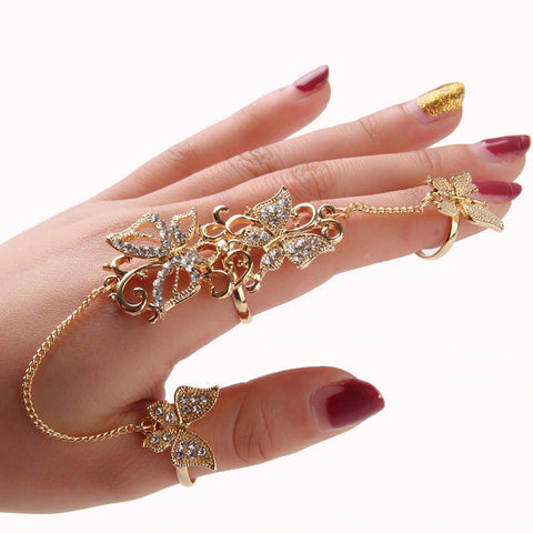 Butterfly Double Link Chain Ring