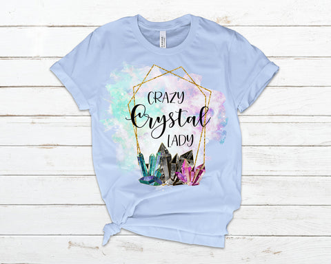 Crazy Crystal Lady T-Shirt  Avail. up to 4X - 6 Colors