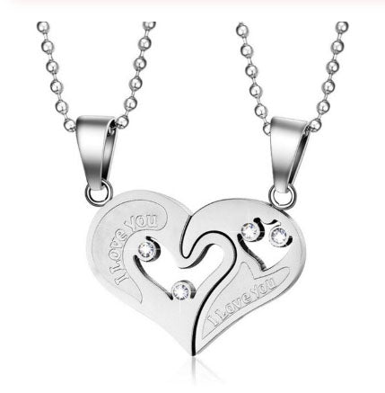 Rugged Couples Heart Necklace - BEST SELLER!