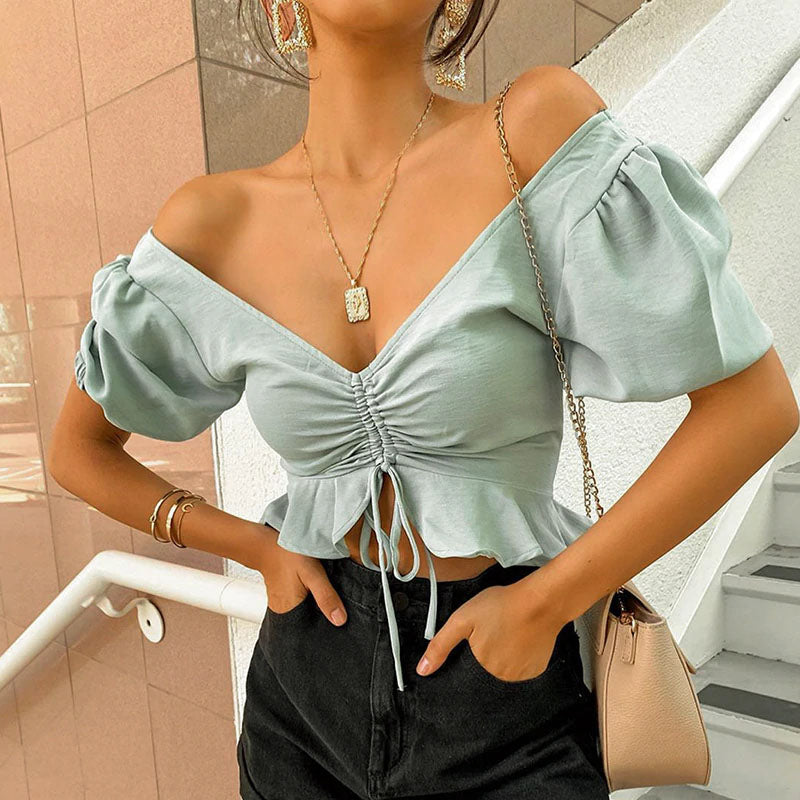 Beach Style Off Shoulder Crop Top