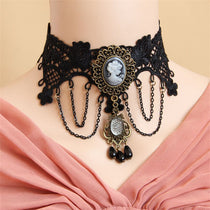 Victorian Cameo Lace Choker